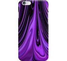 Purple Ribbon Flow Art iPhone Case/Skin