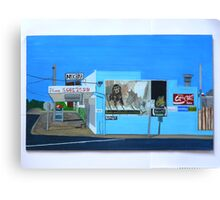 Side of the Milk Bar Canvas Print