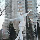 white statue-Chinese kongfu girl~ by LisaBeth