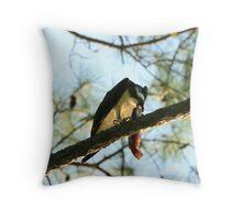 Osprey with Catfish Dinner Throw Pillow