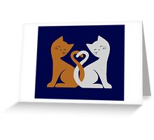 Cat Tales (Navy) Greeting Card