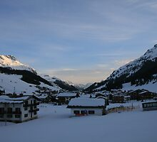 Austrian Alps at Dusk by amapes