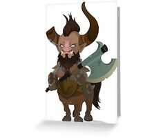 Dota 2 Centaur Art Greeting Card