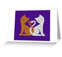 Cat Tales (Purple) Greeting Card