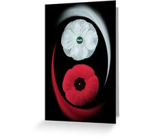 POPPIES ~ PEACE & REMEMBRANCE GO TOGETHER UNITED WE STAND PICTURE/CARD Greeting Card