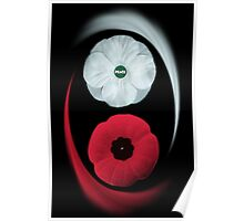 POPPIES ~ PEACE & REMEMBRANCE GO TOGETHER UNITED WE STAND PICTURE/CARD Poster