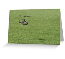 R.C. helicopter hovering! Greeting Card