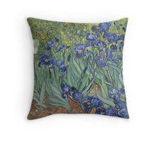 Irises by Vincent Vincent van Gogh Throw Pillow