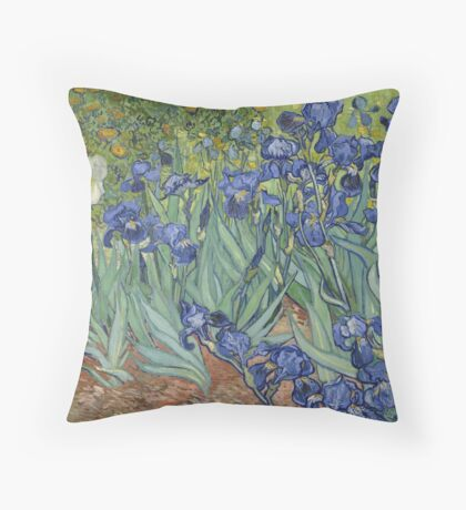 Irises by Vincent Vincent van Gogh Throw Pillow