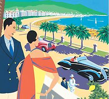French Riviera Classic Vintage Travel Poster by gshapley