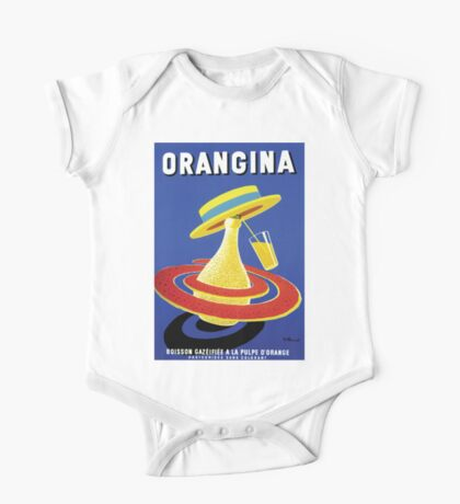 Oringina Classic French Vintage Poster One Piece - Short Sleeve