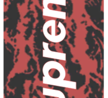 SUPREME Camo Tiger Red Sticker