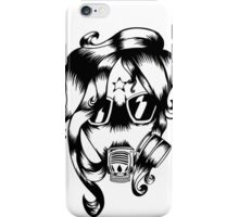 Gas mask girl iPhone Case/Skin