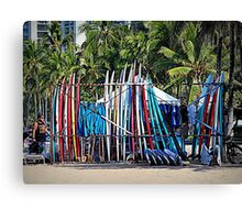 Surfboard Rental Canvas Print