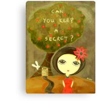 Can You Keep A Secret? Canvas Print