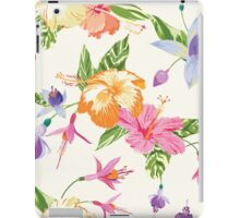 Tropical Flowers and Leaves Background iPad Case/Skin