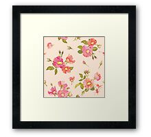 Roses Background in Retro Style Framed Print