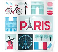 Paris Travel Card Poster