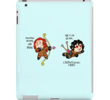 """Game of Thrones - Jon Snow and Ygritte """"Crows before Hoes"""" iPad Case/Skin"""