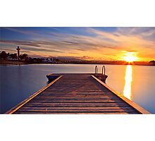 Sunset over the jetty Photographic Print