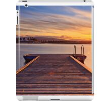 Sunset over the jetty iPad Case/Skin