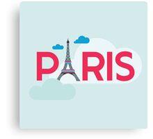 Paris Travel Card Canvas Print