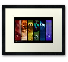 Rainbow drops 10 Framed Print