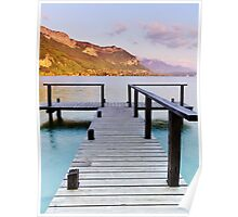 End of afternoon on Annecy lake Poster