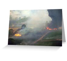 Yarra Valley Fires, 7th Feb 2009. Greeting Card