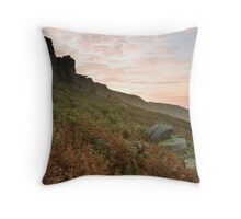 Dawn over Stanage Edge Throw Pillow