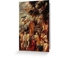 Jacob Jordaens - Allegory of the Poet Greeting Card