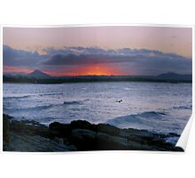 Sunset at the Boiling Pot Poster