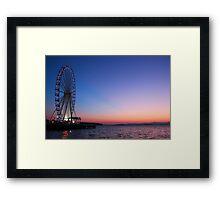 Seattle Sunset Framed Print