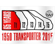VW Transporter 65 years Poster