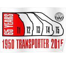 VW Transporter 65 years Poster