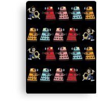 Doctor Who stuck in pac man Canvas Print