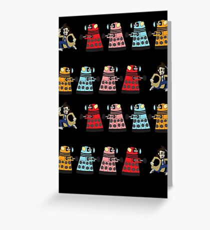 Doctor Who stuck in pac man Greeting Card