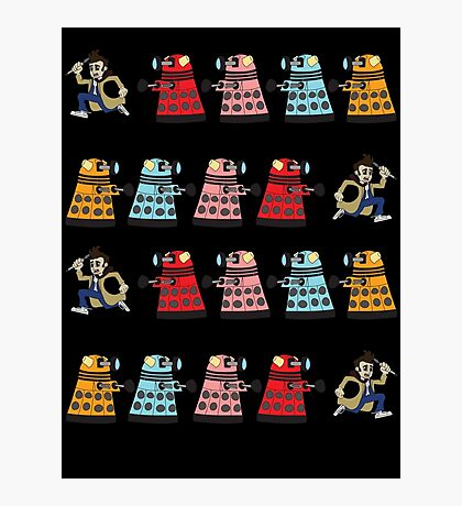 Doctor Who stuck in pac man Photographic Print
