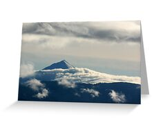 Low Clouds Surround the Mountain Greeting Card