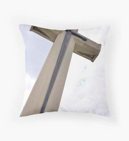 Cross of Valor Throw Pillow