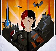 The Shepard and The Hawke by lazare