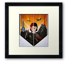 The Shepard and The Hawke Framed Print