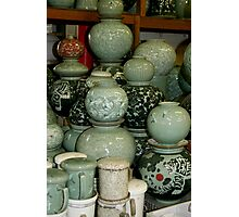 Finished Celadon Pottery Photographic Print