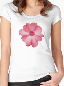 The Heart is a Pink Flower Women's Fitted Scoop T-Shirt