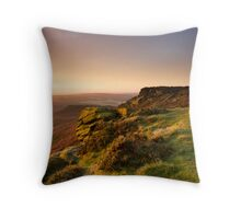 Morning Warmth over Higger Tor Throw Pillow