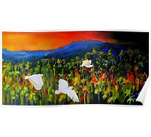 """""""Flight West""""  Acrylic painting on canvas Poster"""