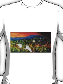 """Flight West""  Acrylic painting on canvas T-Shirt"