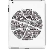 Basketball of the words iPad Case/Skin