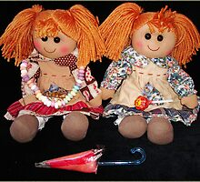 The twins - Barbara-Ann and Mary-Ann loves their Saturday candy by Paola Svensson