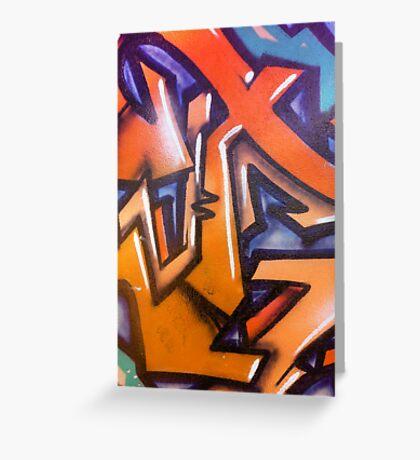 Abstract Wall Graffiti... Greeting Card